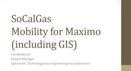 SoCalGas Mobility for Maximo with GIS