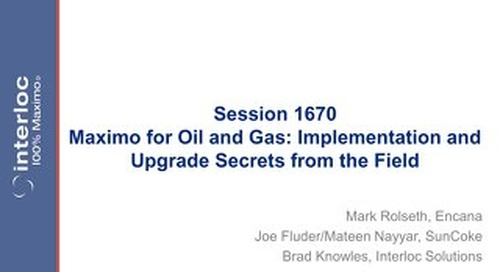 Session 1670 Maximo for Oil and Gas