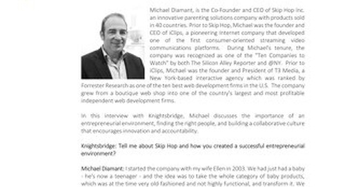 In Conversation With Michael Diamant, Co-Founder & CEO, Skip Hop Inc.