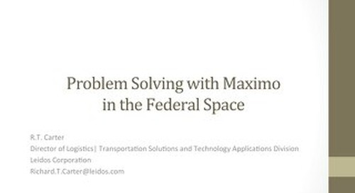 TRIMAX 2015 - Mobilizing Maximo in the Federal Space
