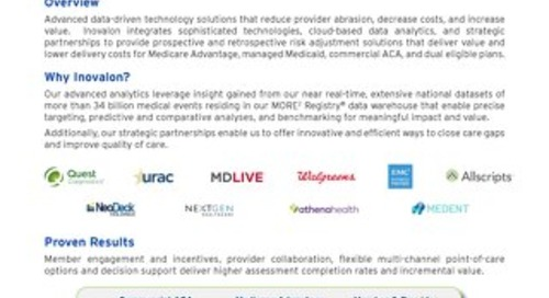 Innovative Risk Adjustment Accuracy Solutions to Improve Quality and Financial Performance and Regulatory Compliance