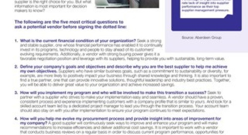 How to know when you're signing with the right supplier