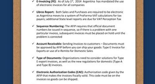 Argentina checklist