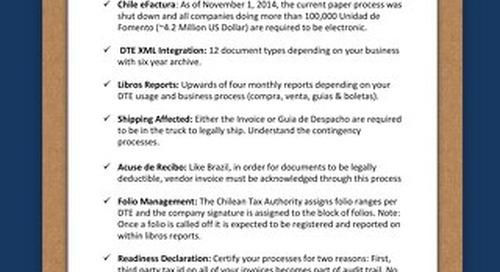 Chile checklist