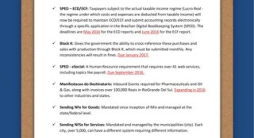Brazil checklist