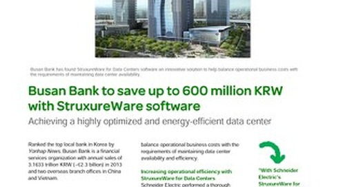 [Case Study] Busan Bank to save up to 600 million KRW with StruxureWare software