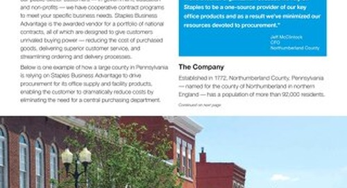 Northumberland County goes lean in procurement