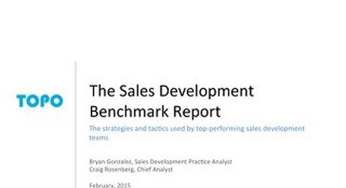 TOPO Sales Development Benchmark Report