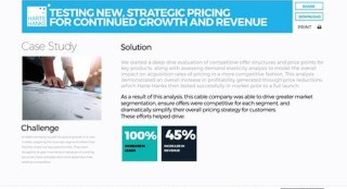 Testing New, Strategic Pricing for Continued Growth and Revenue