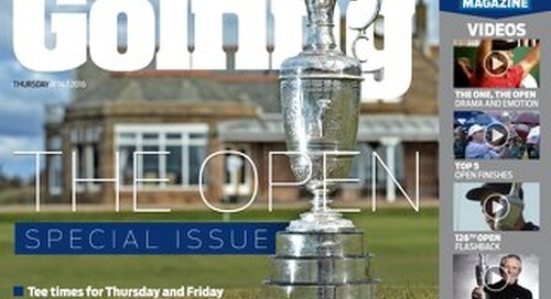 Thursday 14th July 2016 The Open