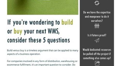 Your Next WMS: Build It or Buy It?