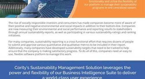 Product Sheet - Sustainability - November 2017