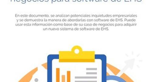 Desarrollo del caso de negocios para software de EHS