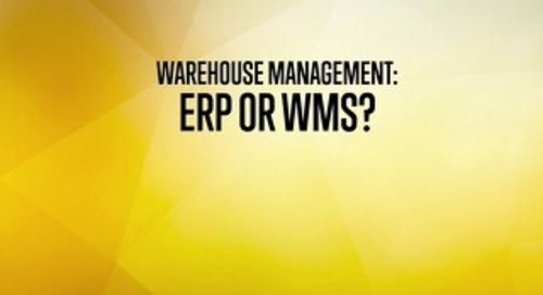 Warehouse Management - ERP or WMS