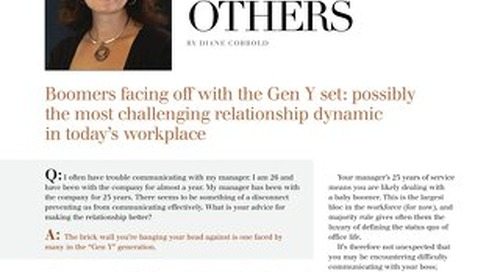 Working Well With Others - Women of Influence Magazine January 2011