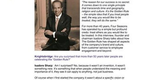 Isadore Sharp, Founder and Chairman, Four Seasons Hotels and Resorts