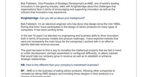 Bob Feldstein, Vice President of Strategic Development, AMD