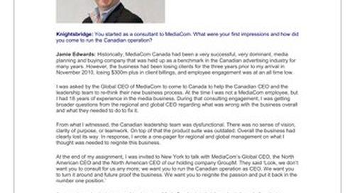 Jamie Edwards, Chief Executive Officer, MediaCom