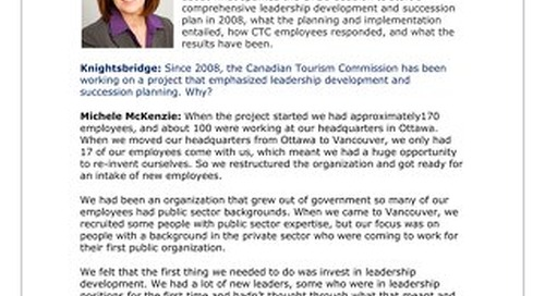 Michele McKenzie, President and Chief Executive Officer, Canadian Tourism Commission
