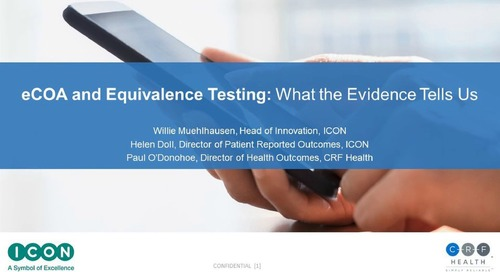 eCOA and Equivalence Testing: New Evidence from Meta-Analysis