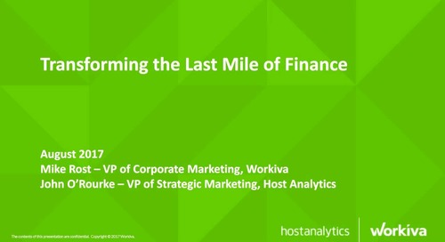 Transforming the Last Mile of Finance