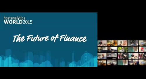 The Future of Finance Keynote with Dave Kellogg, CEO, Host Analytics