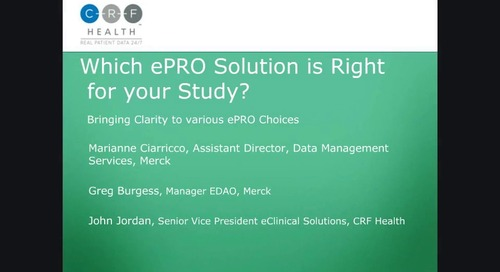 Which ePRO Solution is Right for Your Study? (II)