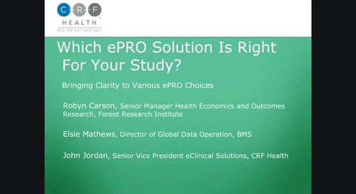Which ePRO Solution is Right for your Study? (I)