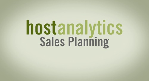 Host Analytics Sales Planning