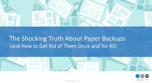 The Shocking Truth About Paper Backups in eCOA Studies