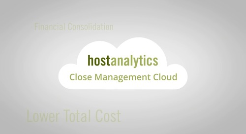 Host Analytics Consolidation