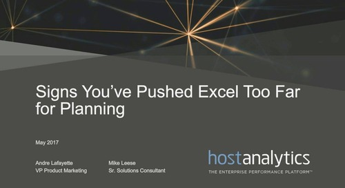 Stop Abusing Excel for Workforce and CapEx Planning
