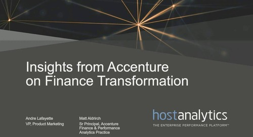 Insights from Accenture on Finance Transformation