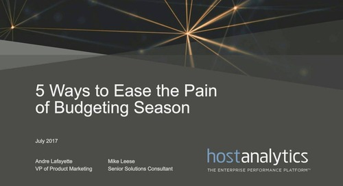 5 Ways to Ease the Pain of Budgeting Season