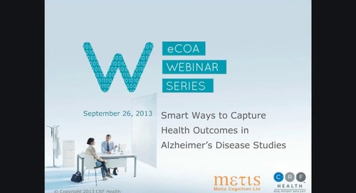 Smart Ways to Capture Health Outcomes in Alzheimer's Disease Studies