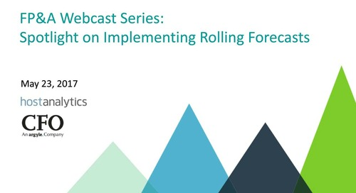 Spotlight on Implementing Rolling Forecasts