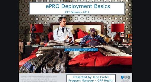 ePRO Deployment Basics