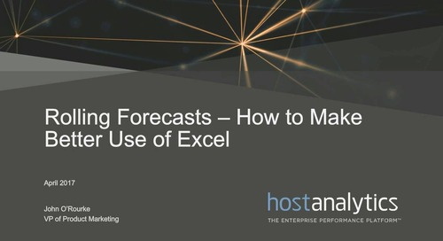 Rolling Forecasts - Make Better Used of Excel