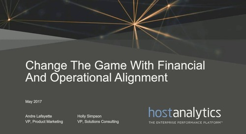 Change the Game with Finance & Operational Alignment