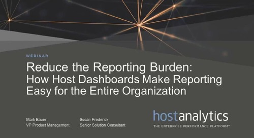 Reduce the Reporting Burden: How Host Dashboards Make Reporting Easy for the Entire Organization
