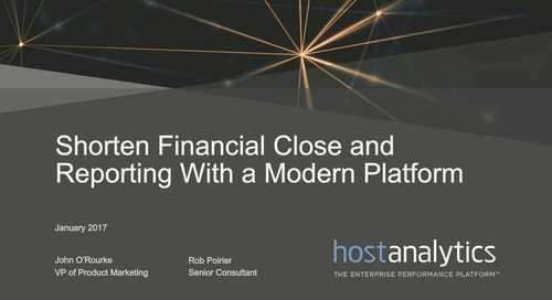 How to Shorten the Financial Close and Reporting Process Through Cloud Based Performance Management
