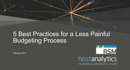 5 Best Practices For a Less Painful Budgeting Process