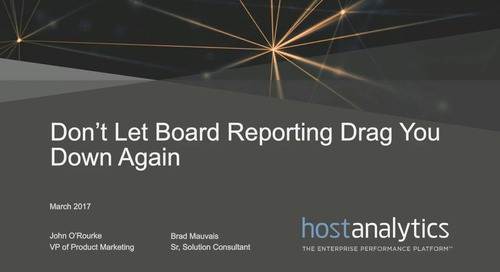 Don't Let Board Reporting Drag You Down Again