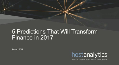 5 Predictions That Will Transform the Finance Function in 2017