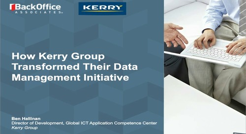Hear How Kerry Group Transformed Their Data Management