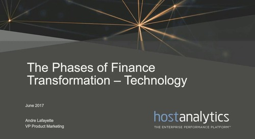 The 4 Phases of Finance Transformation