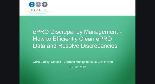 ePRO Discrepancy Management - How to Efficiently Clean ePRO Data and Resolve Discrepancies