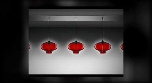 Niche Modern Chandeliers featuring Crimson Pendant Lights