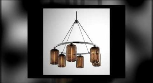 Niche Modern Chandeliers featuring Handmade Chocolate Pendant Lamps