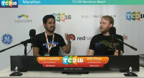 Topcoder Open 2016 - Marathon Match & Design Semifinals 1 - Part 3 #programming #design